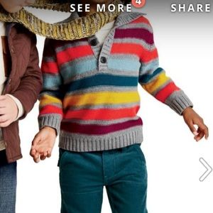 Adorable Boys Tea Collection Striped Sweater 5T